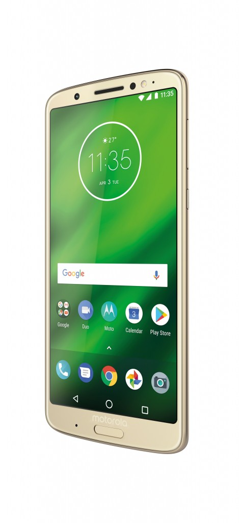 MotoG6Plus_ROW Fine Gold Dyn Frontside