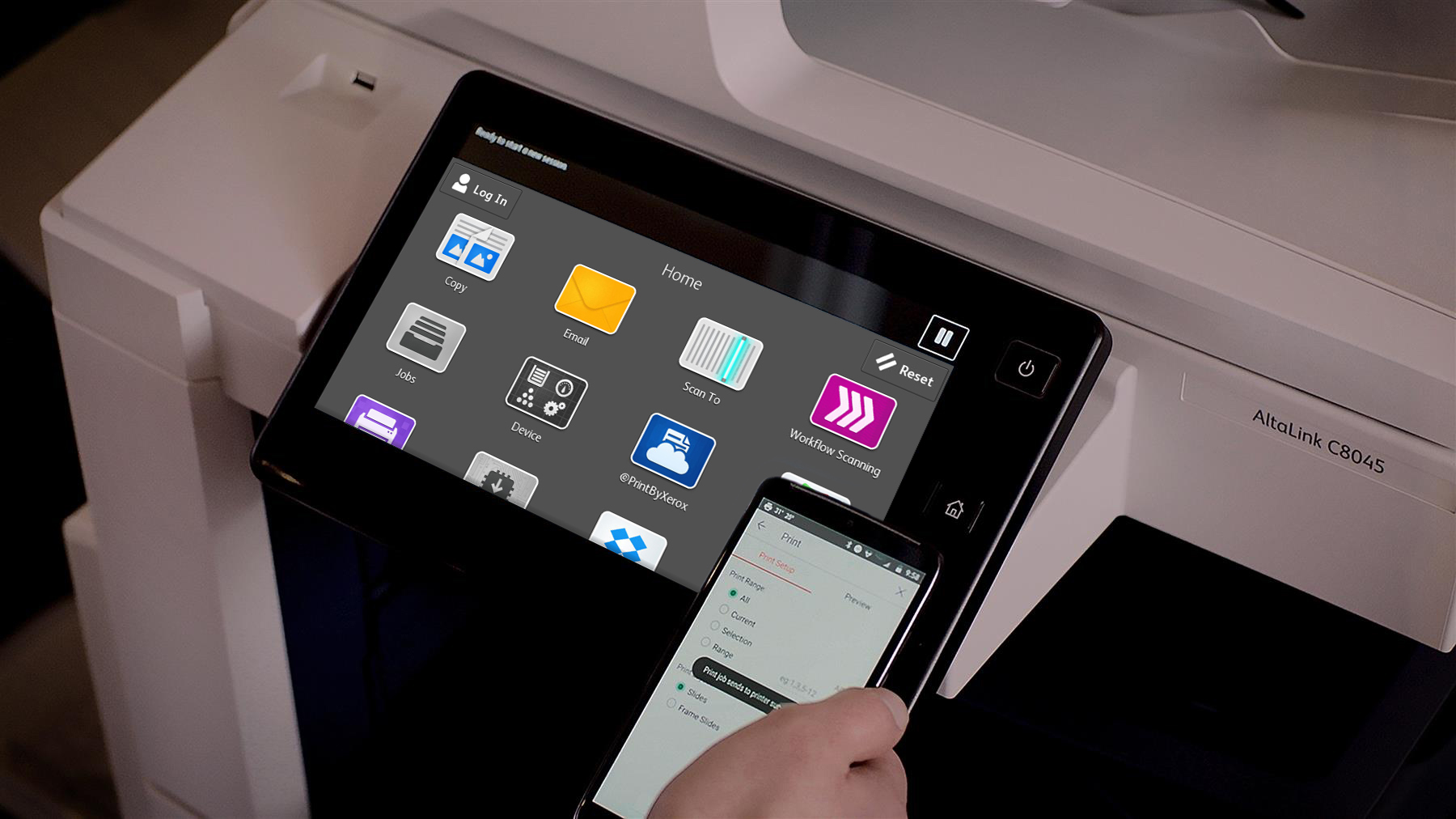 With a new tablet-like user experience, Xerox AltaLink Multifunction Printers make completing daily tasks faster and easier with a customizable home screen.