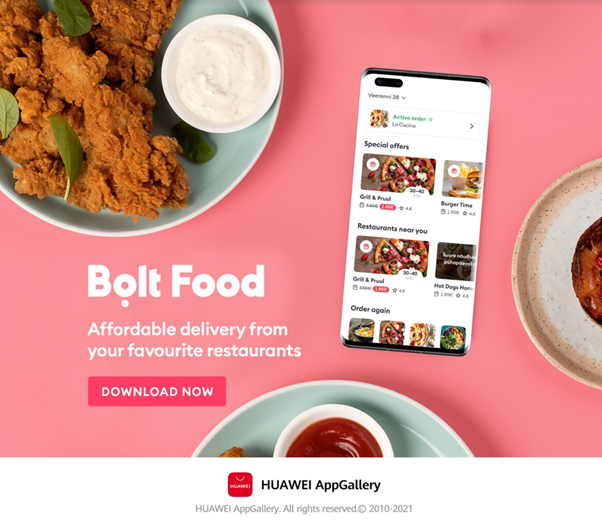 Bolt Food pe AppGallery