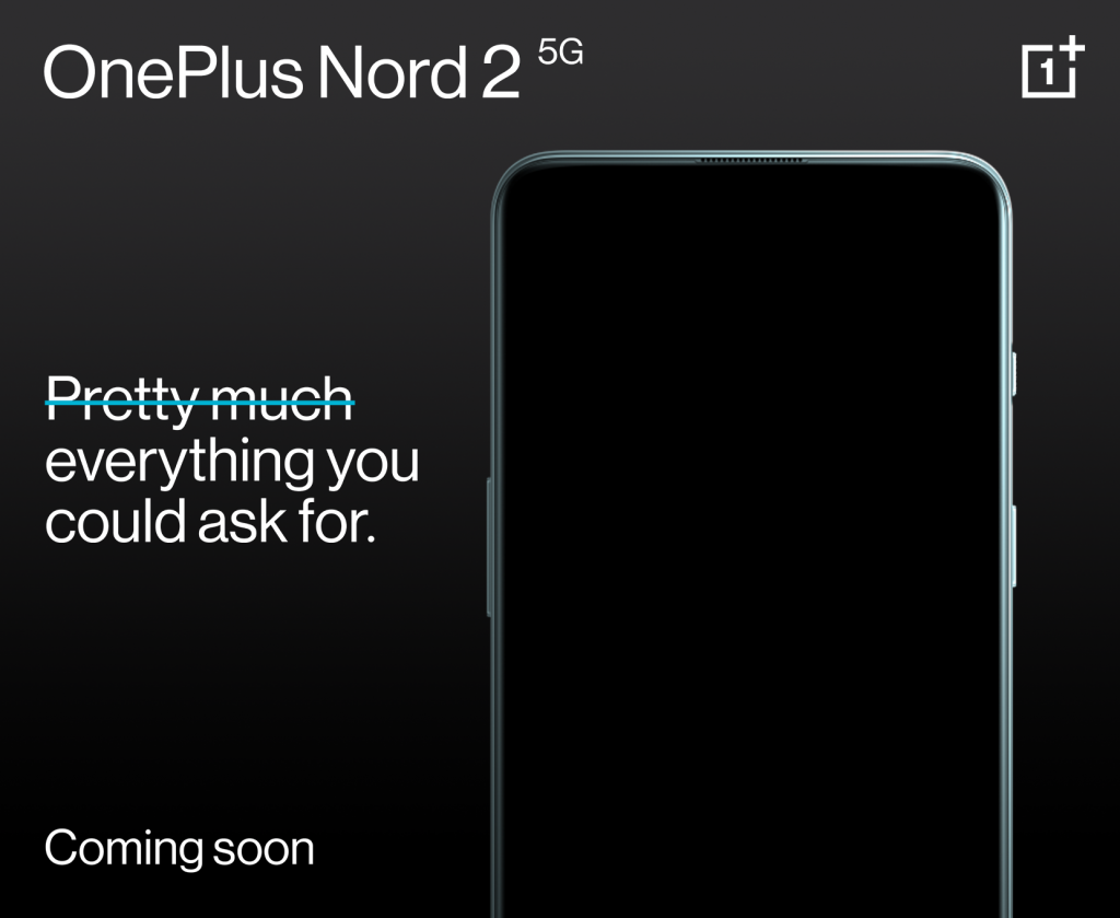 OnePlus Nord 2 5G name and tagline